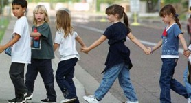 Students walk to school for fun, fitness, safety, and sustainability